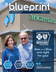 senior adult couple at ArkansasBlue welcome center