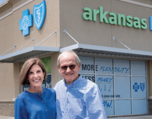Julie and Bill Bridgforth at the Pine Bluff ArkansasBlue welcome center