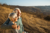 older couple viewing nature