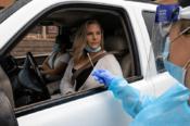 Woman Getting COVID test