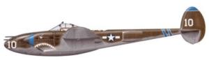 P-38 Lightning fighter