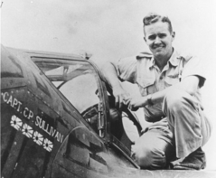 Sully on the wing of his P-38