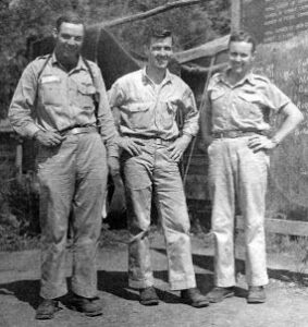 Sully and his buddies (before his ordeal) at the base in Port Moresby, New Guinea