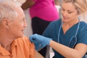 Man Getting Flu Shot