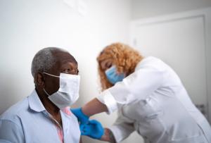 Vaccine Elderly Man
