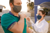 Man Getting Vaccination